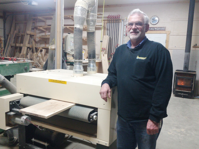 Meet Edson Miller, woodworker and Woodmaster Drum Sander owner.