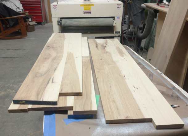 Here's a sample of the output from Mr. Miller's double-drum Woodmaster Drum Sander. Smooth as a baby's bottom!